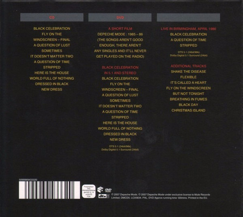 depeche mode / black celebration / cd + dvd / europeo nuevo