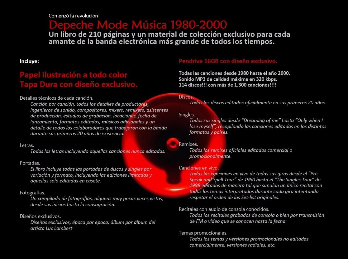 Depeche Mode Libro Negro Música 1980-2000 + Pen - $ 792,00 en ...