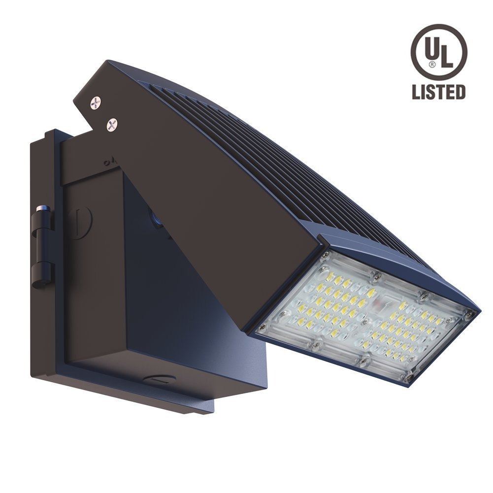 Dephen 55w led wall pack 5000k led flood lights 6500lumens cargando zoom aloadofball Image collections