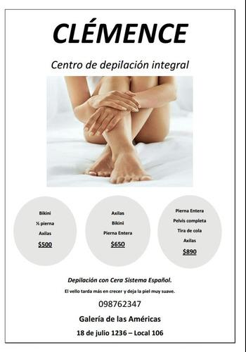 depilación cera negra sistema español/ masajes estèticos