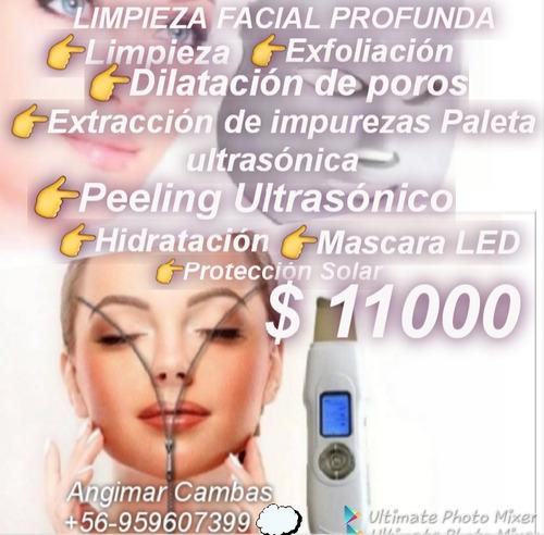 depilación con cera extension de pestañas limpieza facial