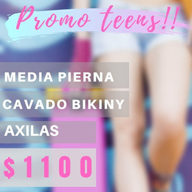 Depilación Definitiva Media Pierna +cavado Bikini+axilas