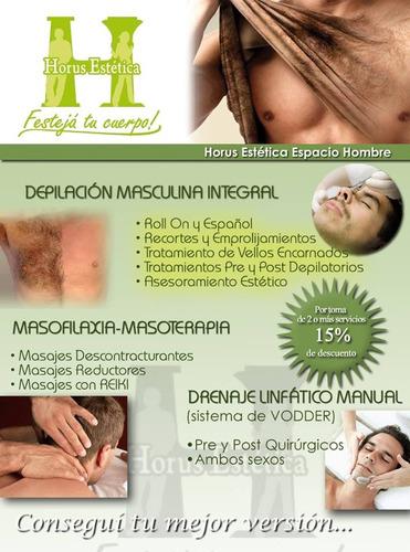 depilación masculina-masajes-drenaje linfático vodder