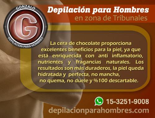 depilación para hombres- con cera de chocolate