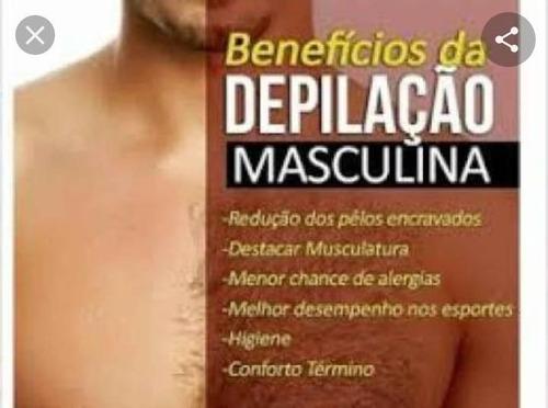 depilação e massagem