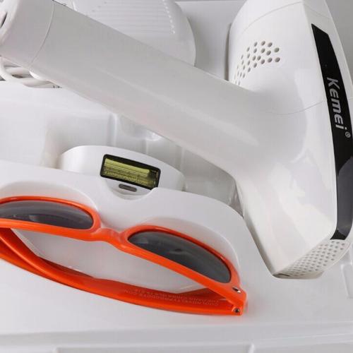 depilador a laser definitivo permanente luz pulsada kemei