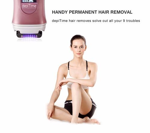depilador a laser depitime - redução de pelos (rosa) bivolt