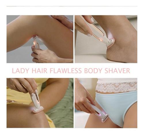 depilador body recargable removedor vellos flawless piel