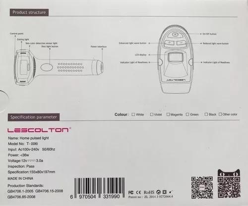 depiladora laser definitiva facial cuerpo ipl t6 original
