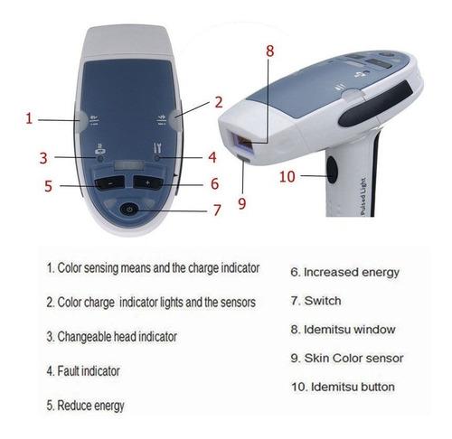 depiladora laser depilación permanente luz pulsada ipl hogar