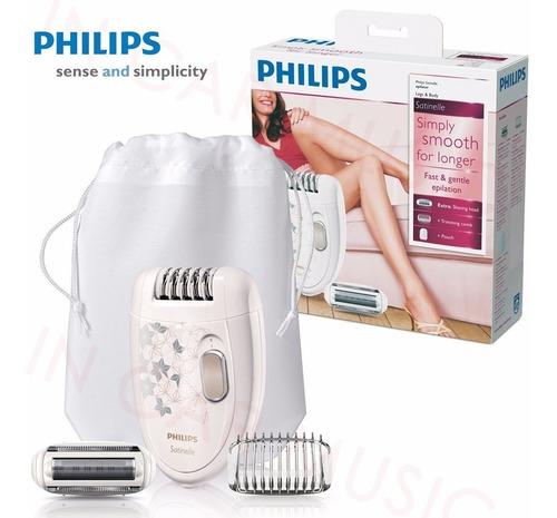 depiladora philips eléctrica hp6423 cabezal lavable