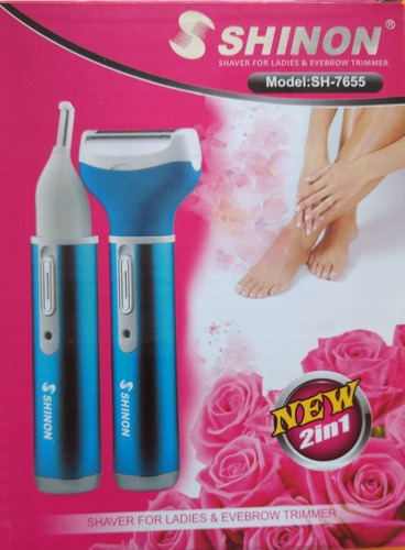 depiladora rasuradora dama eléctrica recargable