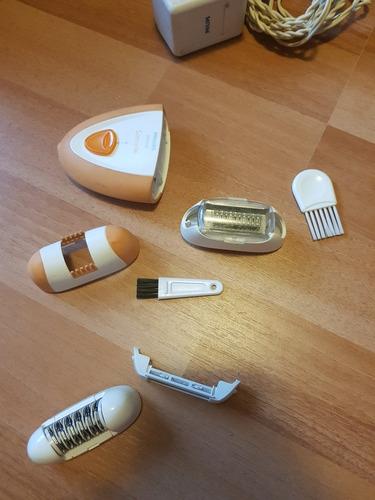 depiladora rasuradora satinelle philips con accesorios
