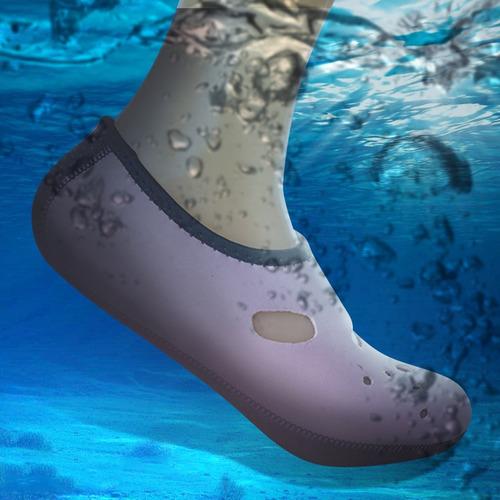 deporte acuatico aleta natacion calcetine buceo comoda azul