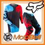 Conjunto Fox 180 Azul Y Rojo Motocross Enduro Moto