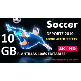 Deportes Plantillas Para Adobe After Effect 2019 Soccer +