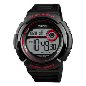 fd94dcdebd81 Deportes Reloj Impermeable Doble Tiempo Cuenta Atrás Lumino