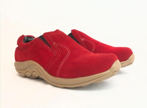 deportivo de cuero gamuza marcel calzados (cod.15526) rojo.