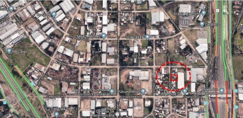 depósito 120 m2 - area de promoción el triángulo - malvinas argentinas