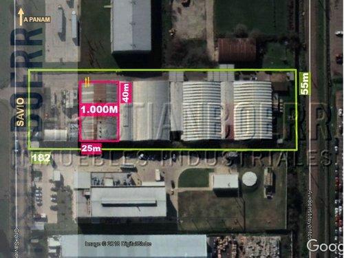 depósito de 800 m² cub en alquiler parcial dentro del parque