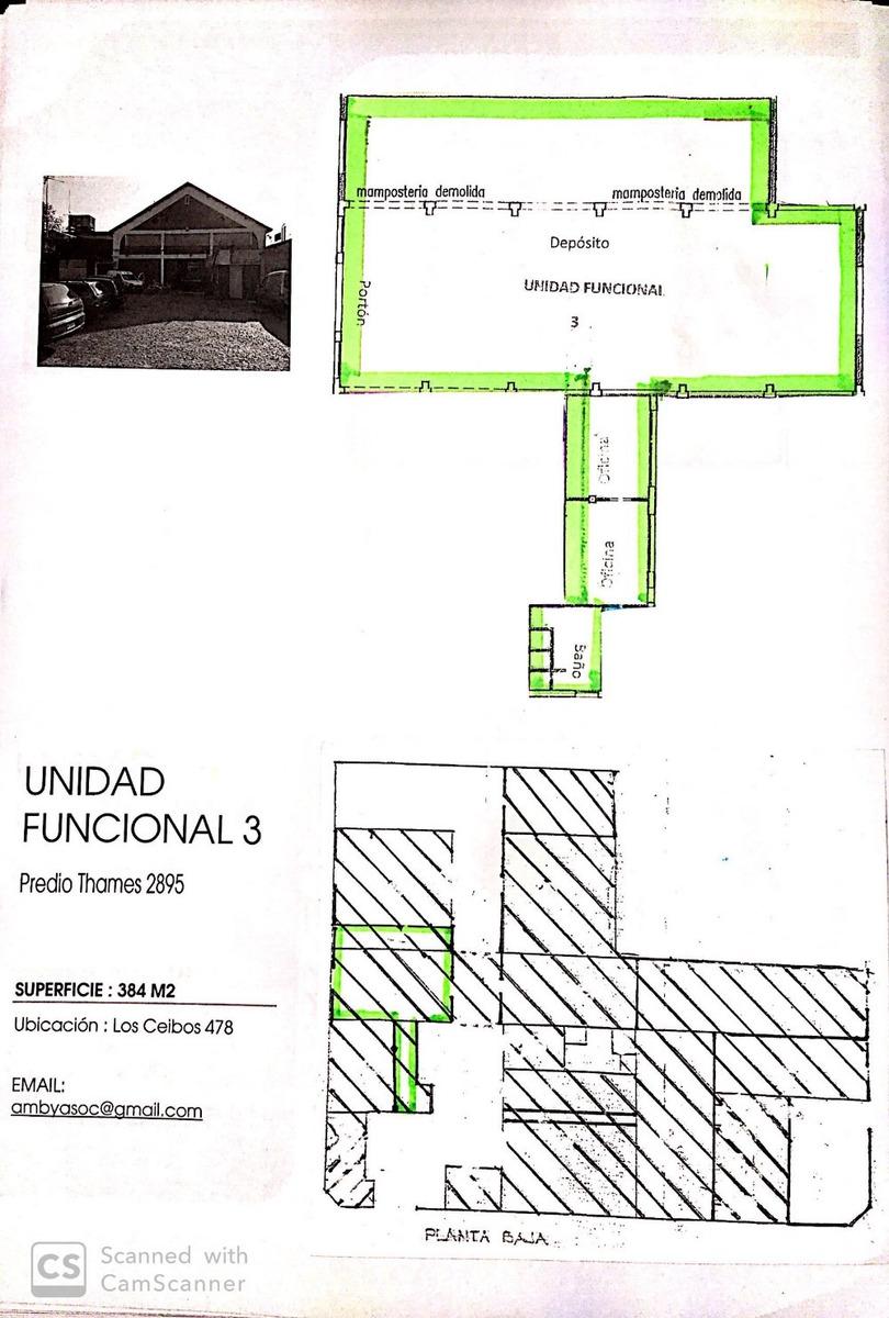 depósito de loza de 280 m2 en  predio  industrial