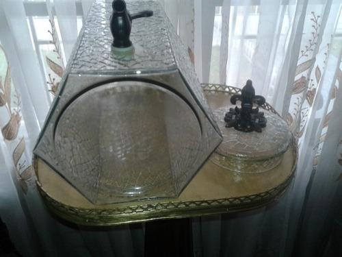 deposito de vidrio con dispensador (llave) para bar
