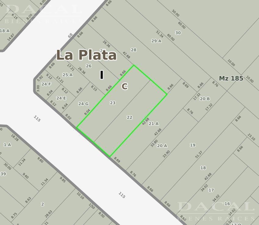 depósito en la plata calle 115 e/ 68 y 69 - dacal bienes raices