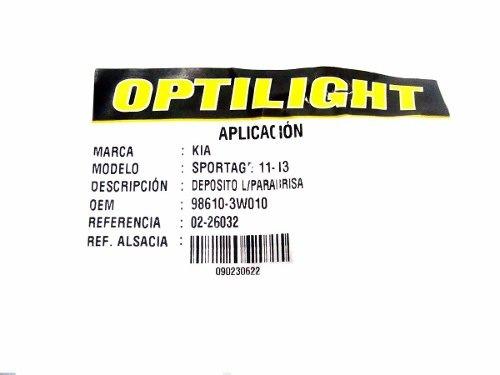 deposito limpia parabrisa kia sportage 2011-2013 optilight