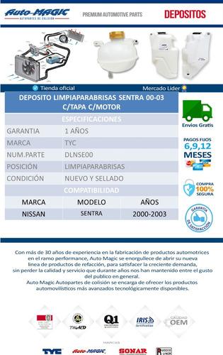 deposito limpiaparabrisas sentra 00-03 c/tapa c/motor