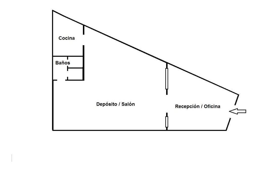 deposito oficina alquiler v. devoto planta baja