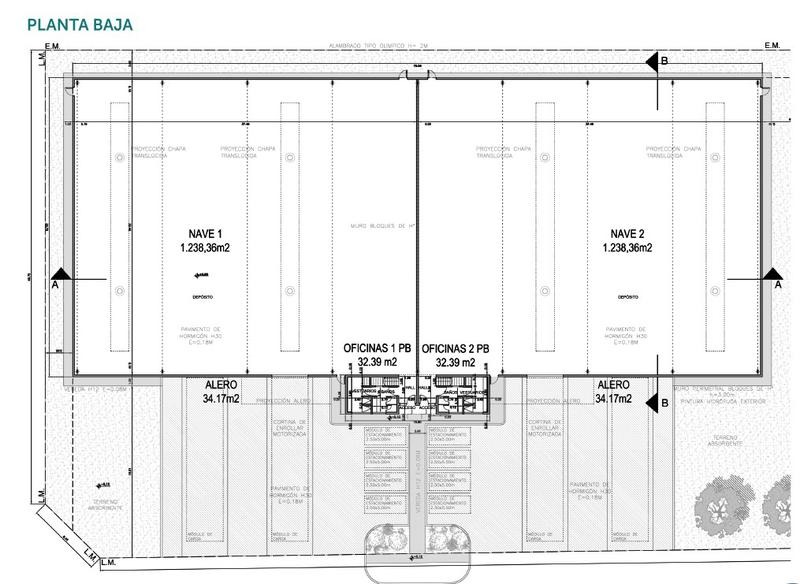 depósitos 1200 m2 en alquiler en escobar plaza pyme sobre panamericana