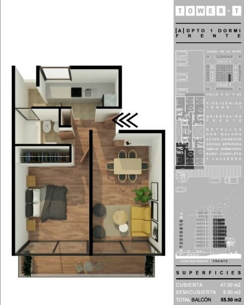 depto 1 dormitorio con balcon. plan de pagos en pesos