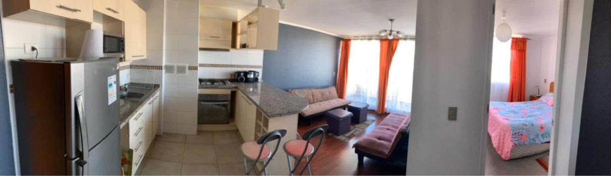 depto 1 dormitorio en suite y dos futones en living
