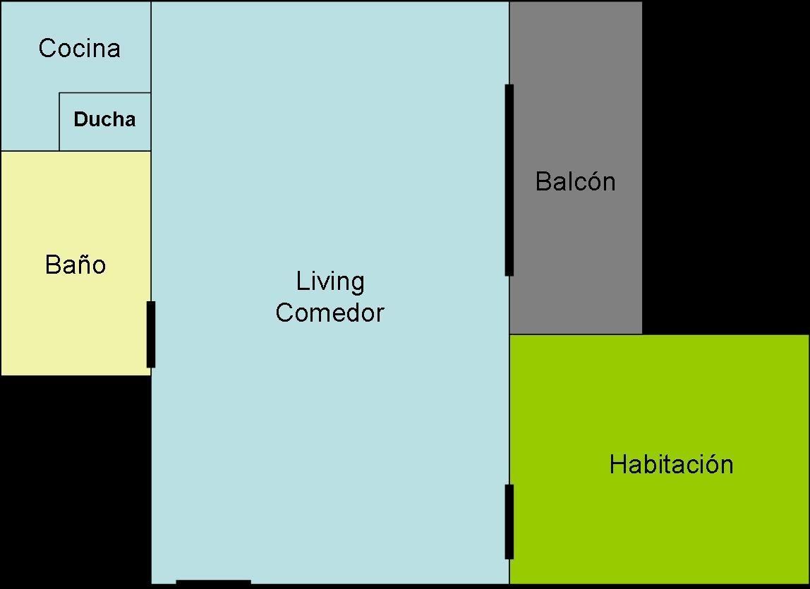 depto 2 amb. a solo 7 cuadras del centro civico - 4 personas