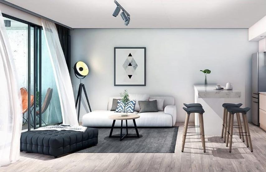 depto. 2 amb. con cochera + terraza 50 m2 bonificada!