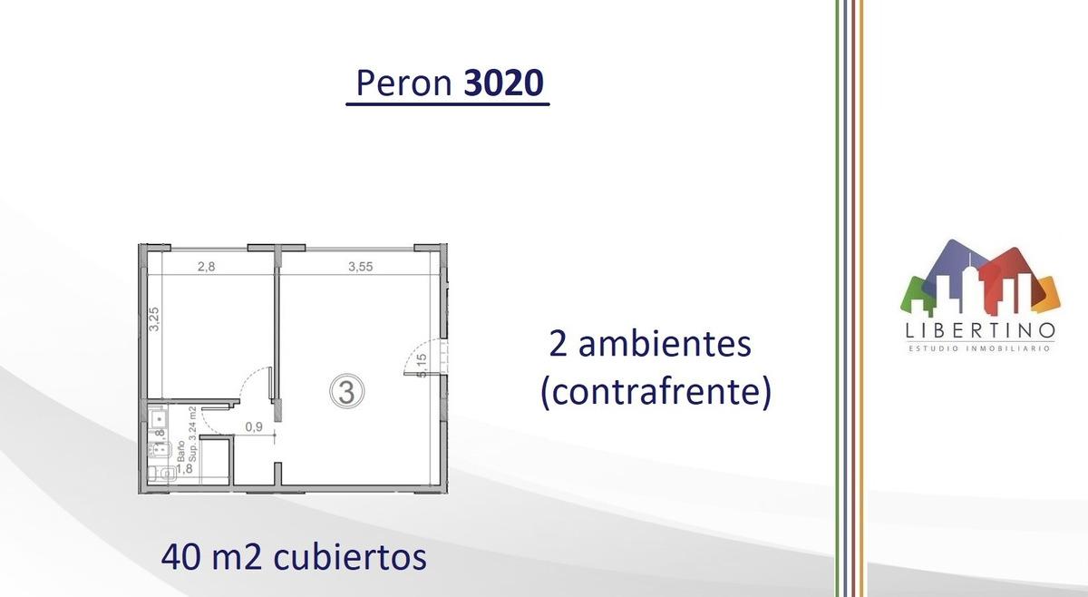 depto 2 amb con terraza propia y cochera // pte. peron 3020