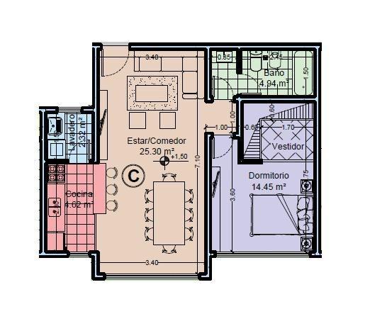 depto 2 amb san bernardo venta - departamento de dos ambientes con cochera financiacion a estrenar
