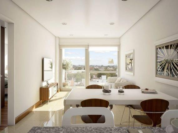 depto. 2 ambientes cfte. abierto con balcón saliente