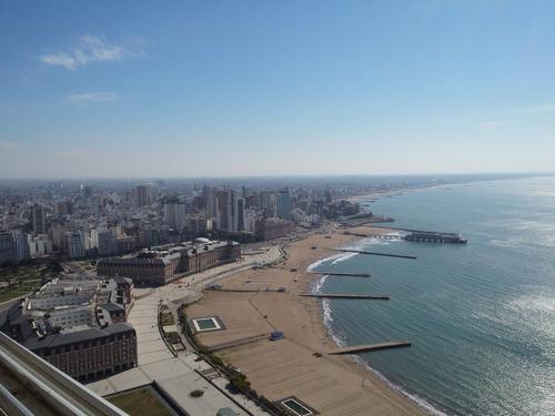 depto. 2 ambientes con dependencia de servicio a la calle con balcón corrido y vista plena al mar