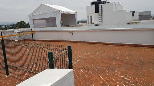 depto 2 rec 1 est, roof garden y 2 baños. $10,000