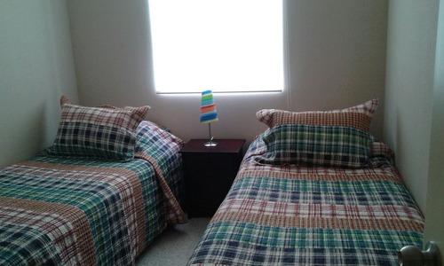 depto. 3 dormitorios 6 personas  laguna bahia (san alfonso)