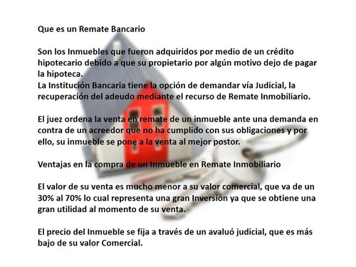 depto col san pedro barrientos, remate bancario no creditos