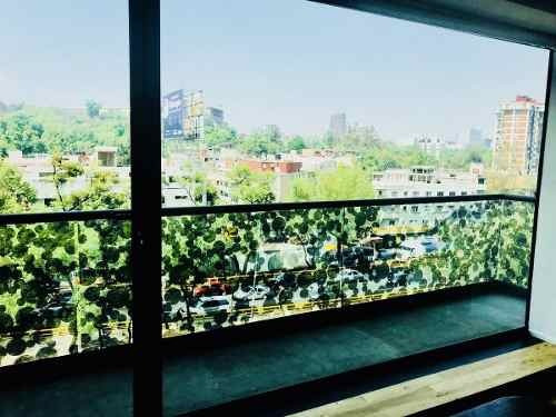 depto con bella vista al bosque de chapultepec en circuito interior, condesa