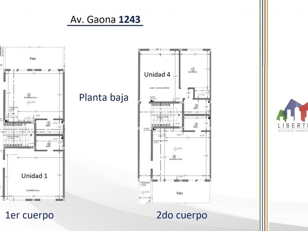 depto monoambiente con terraza propia en pozo // gaona 1243