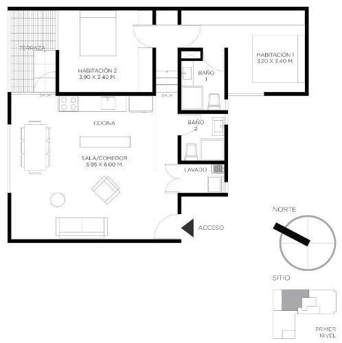 depto. nuevo, t: 124  m2, r.g. común, 2 rec, 2 b,  narvarte