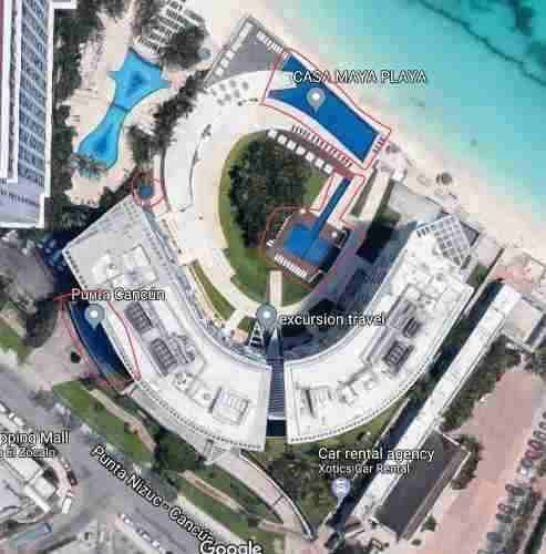 depto renta cancún frente al mar 3 rec. 4 baños de 222 m2