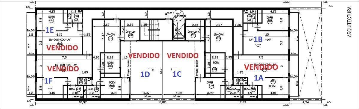 deptos. tipo ph de  3 ambientes con amplio balcon en segundo piso