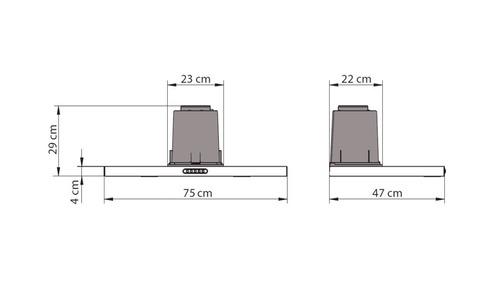 depurador slim de embutir nardelli inox 75cm 220v
