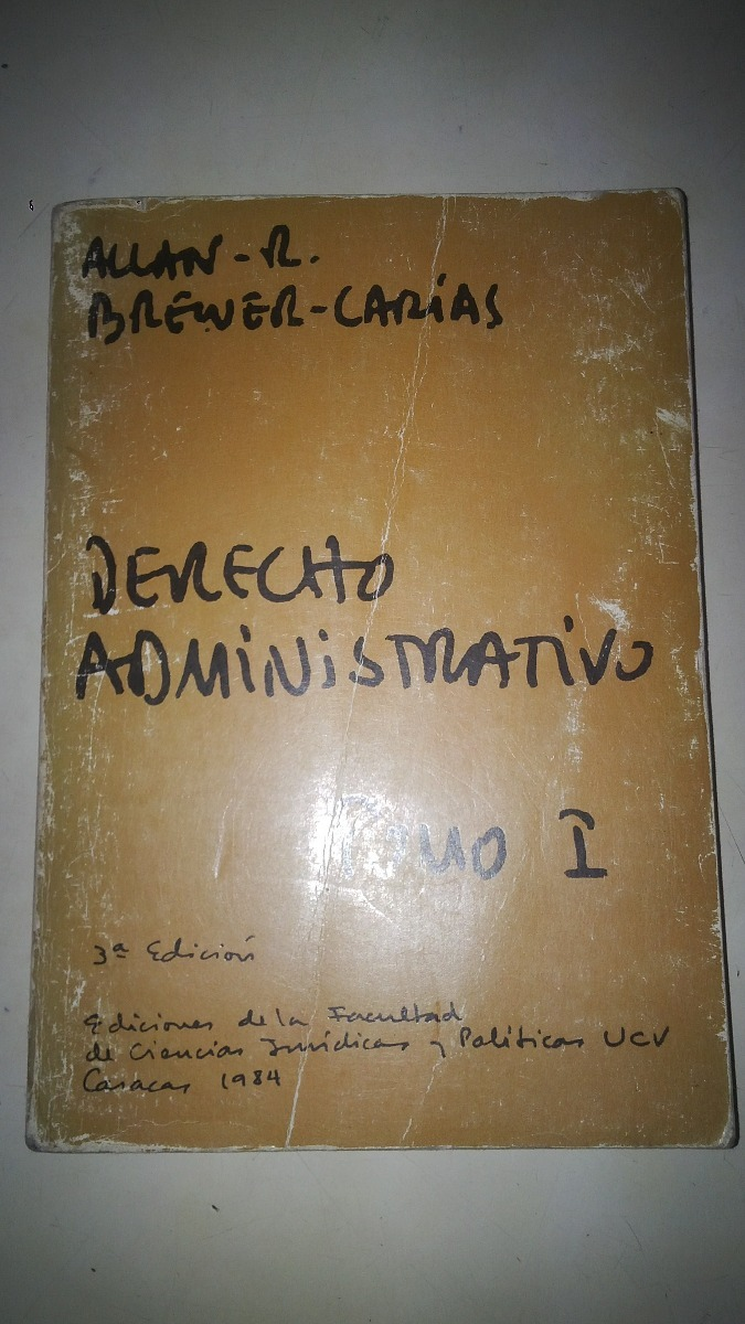 allan brewer carias derecho administrativo