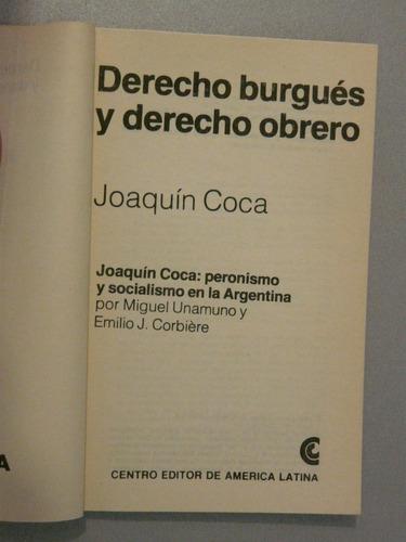 derecho burgués y derecho obrero por joaquín coca